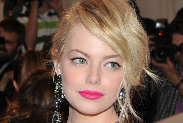 Emma Stone Hot Pink Lips