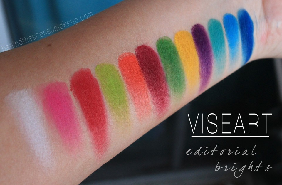 Viseart Editorial Mattes Bright Palette Swatches