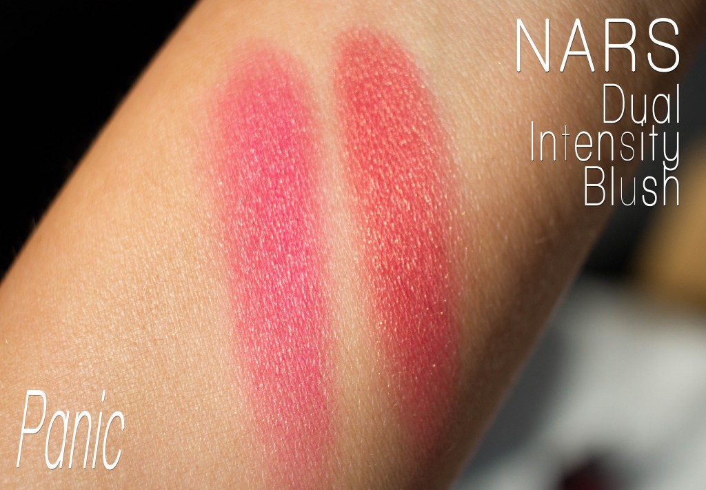NARS Dual Intensity Blush Panic Swatch