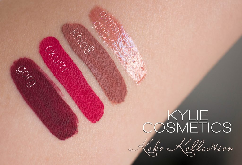 Kylie Cosmetics - Koko Collection Swatches