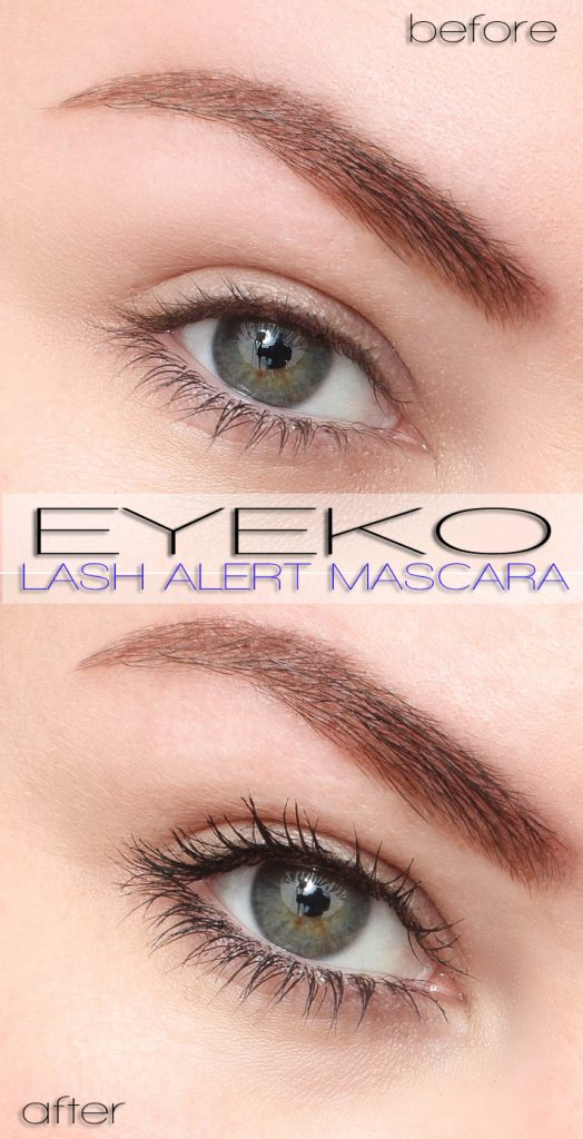 Eyeko Lash Alert Mascara Before and After