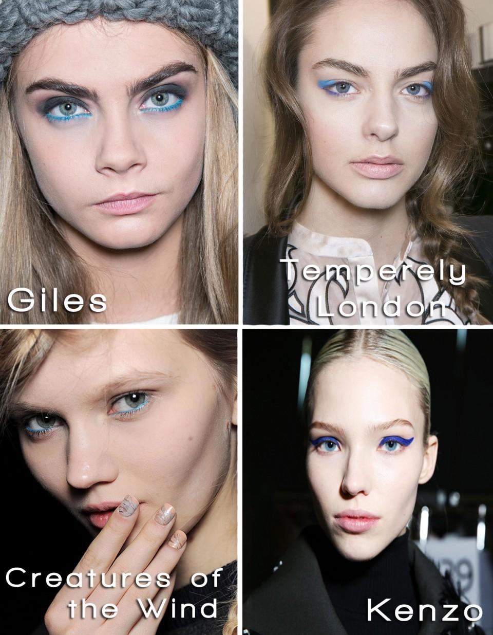 Blue Eyeliner 2014 trend