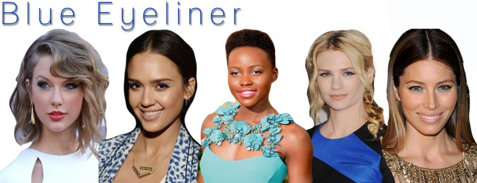 Blue Eyeliner Trend Celebrity