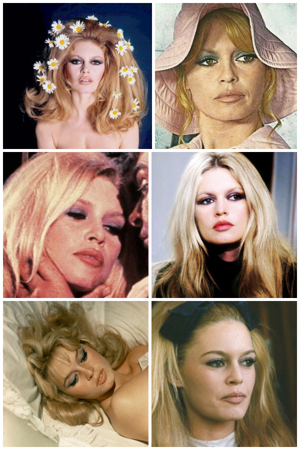brigitte bardot purple and blue eyeshadow