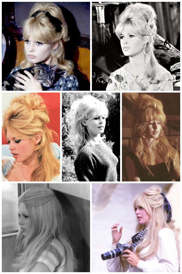 brigitte bardot hair half up half down